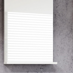 45*25 cm MDF Yüksek Kalite Banyo Dolabı+Seramik Lavabo +Dekoratif Ayna